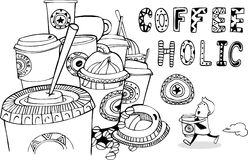 Coffeeholic Royalty Free Stock Photography