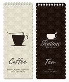 Coffeehouse menu. Menu for restaurant, cafe, bar, coffeehouse Royalty Free Stock Images