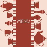 Coffeehouse menu design. Coffeehouse menu background for restaurant or cafe design Stock Photography