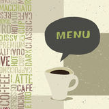 Coffeehouse menu template. Vector, EPS8 Stock Photography