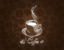 Coffeehouse. Vector coffee cup on background. Menu for restaurant, cafe, bar, coffeehouse Royalty Free Stock Image