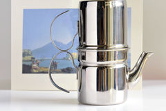 Coffeemaker. Detail of the genuine Neapolitan coffee maker of yore Stock Photography