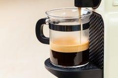 Coffeemaker brewing espresso coffee Royalty Free Stock Photography