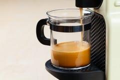 Coffeemaker brewing espresso coffee Stock Photography