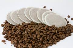 Coffeepads Fotos de archivo libres de regalías