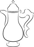 Coffeepot. Beautiful illustration of a cute coffeepot, isolated Stock Images