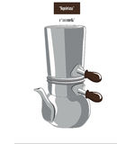 Coffeepot or cuccumella napoletana Royalty Free Stock Photos