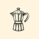 Coffeepot. Vector illustration in sketch style. EPS 10 Stock Photo