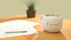 Coffeequation tid! stock illustrationer