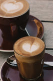Coffees, flat white and piccolo Royalty Free Stock Image