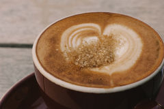 Coffees, flat white with sugar Stock Photography
