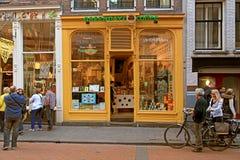 Coffeeshop exterior em Amsterdão, Países Baixos imagem de stock royalty free