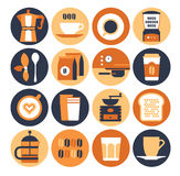Coffeeshop icon set Royalty Free Stock Images