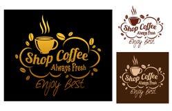 Coffeesymbols o banderas de la tienda Imagen de archivo