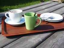 Coffeetime in de middag Royalty-vrije Stock Foto's