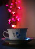 coffeförälskelse Arkivbild
