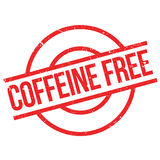 Coffeine Free rubber stamp Stock Images