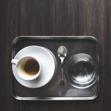 Coffekop Tray Refreshment Concept royalty-vrije stock afbeelding