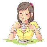 Coffemeisje Royalty-vrije Stock Afbeelding