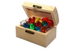 Coffer of gemstones Royalty Free Stock Photos