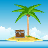 Coffer on island Stock Images