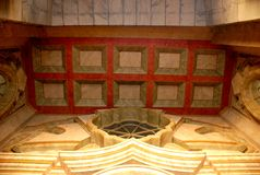 Coffered ceiling Royalty Free Stock Images