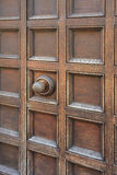 Coffered entrance with door knob Royalty Free Stock Images