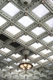 Coffered white ceiling Stock Photography