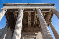 Coffering on the ceiling of the Erechtheion on Acropolis.Greece. Royalty Free Stock Photography