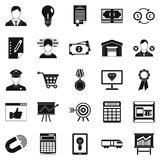 Coffers icons set, simple style. Coffers icons set. Simple set of 25 coffers vector icons for web isolated on white background Stock Images