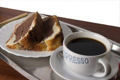 Coffey en cake Stock Afbeeldingen
