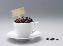 Cofffee bean with cup Stock Photography