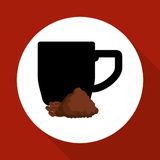 Cofffee icon. drink concept.  Flat illiustration , vector Stock Photography