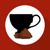 Cofffee icon. drink concept.  Flat illiustration , vector Stock Images