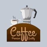 Cofffee icon. drink concept.  Flat illiustration , vector Royalty Free Stock Image