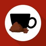 Cofffee icon. drink concept.  Flat illiustration , vector Stock Image