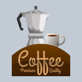 Cofffee icon. drink concept.  Flat illiustration , vector Royalty Free Stock Photos