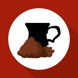 Cofffee icon. drink concept.  Flat illiustration , vector Royalty Free Stock Photography