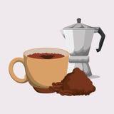 Cofffee icon. drink concept.  Flat illiustration , vector Stock Photo