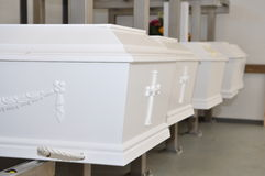 Coffin. S for storage in the chapel Royalty Free Stock Photos