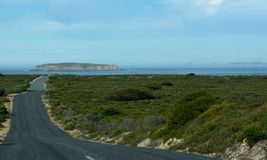 Coffin Bay National Park, Eyre Peninsula. Driving to Point Avoid, looking out from Coffin Bay National Park, Eyre Peninsula (Australia Royalty Free Stock Photos