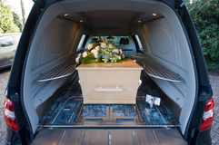 Coffin in car Stock Image