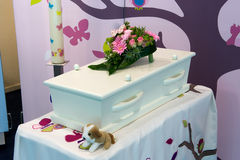 Coffin for child Stock Photos