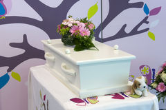 Coffin for child Royalty Free Stock Photos