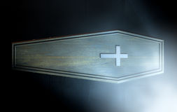 Coffin And Crucifix Stock Image
