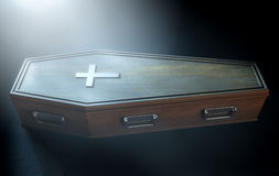 Coffin And Crucifix Stock Images