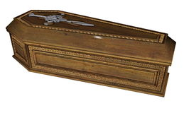 Coffin - 3D render Royalty Free Stock Photography