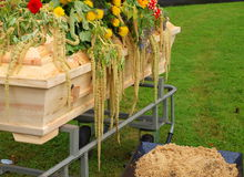 coffin with flowers Royalty Free Stock Images