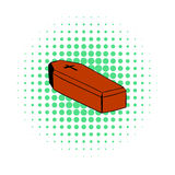 Coffin icon, comics style Royalty Free Stock Photos