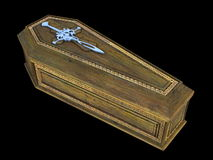 Coffin stock image